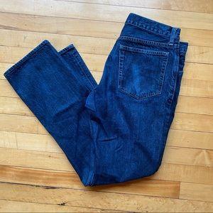 J Crew flat wash slim straight jeans 31x32